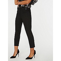 Dorothy Perkins - Black tab button trousers