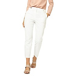 Dorothy Perkins - White button tab trousers