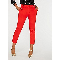 Dorothy Perkins - Red button tab trousers