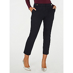 Dorothy Perkins - Navy button tab trousers