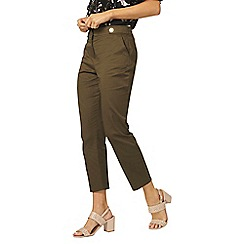 Dorothy Perkins - Khaki button tab trousers