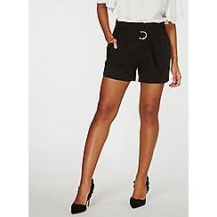Dorothy Perkins - Black o-ring shorts
