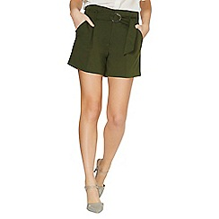 Dorothy Perkins - Khaki o-ring shorts