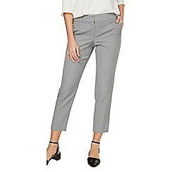Dorothy Perkins - Grey spot print ankle grazer trousers
