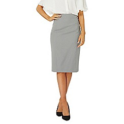 Dorothy Perkins - Grey spot pencil skirt