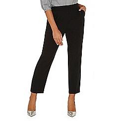 Dorothy Perkins - Black elastic back peg trousers