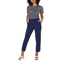 Dorothy Perkins - Navy elastic waist peg trousers