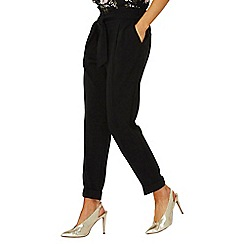 Dorothy Perkins - Black tie tapered trousers