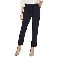 Dorothy Perkins - Navy tie tapered trousers