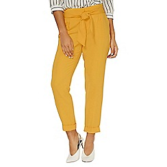 Dorothy Perkins - Ochre tie tapered trousers