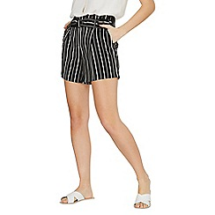 Dorothy Perkins - Monochrome striped o-ring shorts