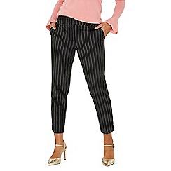 Dorothy Perkins - Black spot split hem ankle grazer trousers