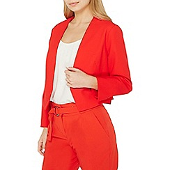 Dorothy Perkins - Red rivet detail cropped jacket