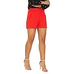 Dorothy Perkins - Red rivet detail shorts