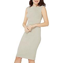 Dorothy Perkins - Silver cap sleeve pencil dress