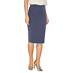 Dorothy Perkins - Navy twill textured pencil skirt