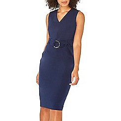Dorothy Perkins - Navy o-ring belted pencil dress