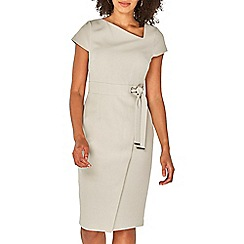 Dorothy Perkins - Silver asymmetric belted shift dress