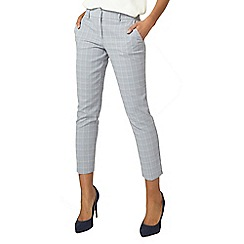Dorothy Perkins - Blue summer checked ankle grazer tailored fit trousers