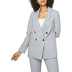 Dorothy Perkins - Blue summer checked suit jacket