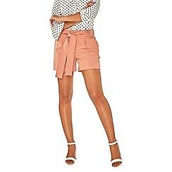 Dorothy Perkins - Coral sash tie shorts