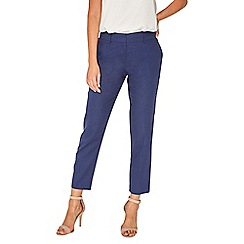 Dorothy Perkins - Navy linen split hem trousers