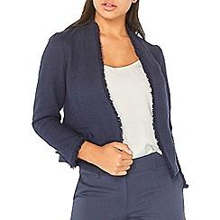 Dorothy Perkins - Navy fringe boucle jacket