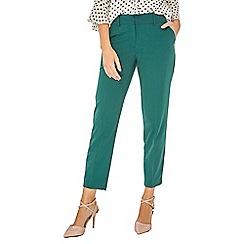 Dorothy Perkins - Forest green split hem ankle grazer trousers