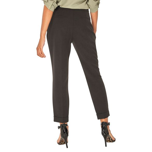 Dorothy buckle Perkins trousers Black tapered WYpfRgq