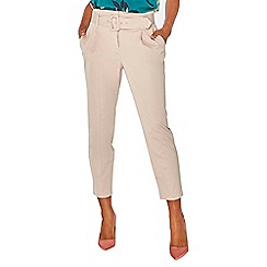 Dorothy Perkins - Stone belted tapered trousers