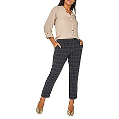 Dorothy Perkins - Navy and black checked ankle grazer trousers