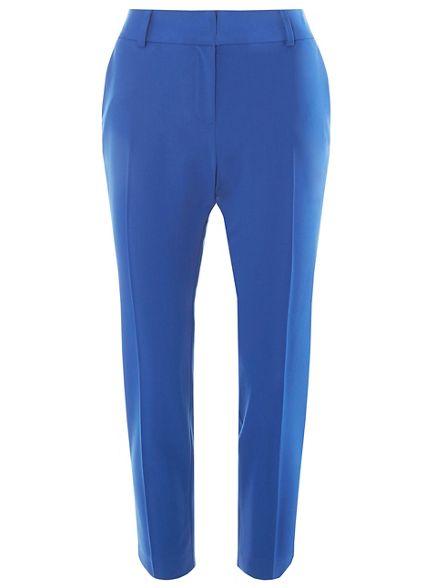 ankle Cobalt tapered hem leg Dorothy grazer trousers Perkins split 5IxqP6Y