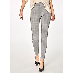 Dorothy Perkins - Check skinny stretch trousers