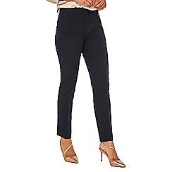 Dorothy Perkins - Navy d-ring slim leg trousers