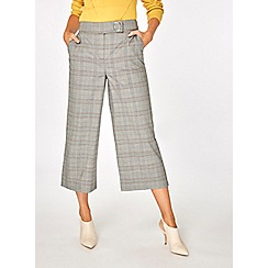 Dorothy Perkins - Multi coloured check wide leg trousers