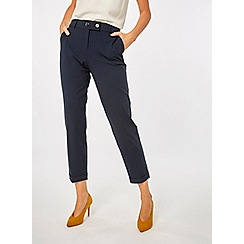 Dorothy Perkins - Navy pinstriped tailored trousers