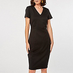 Dorothy Perkins - Black textured pencil dress