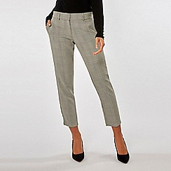 Dorothy Perkins - Grey check tailored ankle grazer trousers
