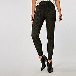 Dorothy Perkins - Black sparkle pull-on skinny fit trousers