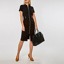 Dorothy Perkins - Black zip front pencil dress