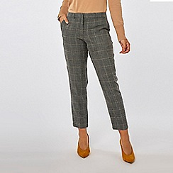 Dorothy Perkins - Grey check ankle grazer trousers