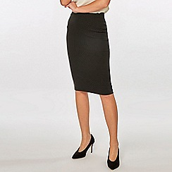 Dorothy Perkins - Black Spotted Pencil Skirt