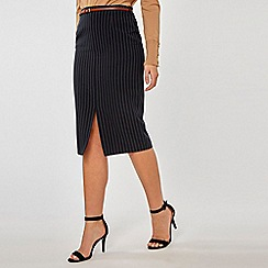 Dorothy Perkins - Navy Double Striped Pencil Skirt