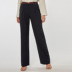 Dorothy Perkins - Navy Wide Leg Double Stripe Trousers