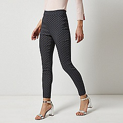 Dorothy Perkins - Blue Triangle Geometric Print Skinny Trousers