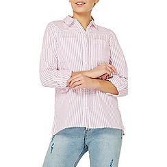 Dorothy Perkins - Pink textured stripe shirt