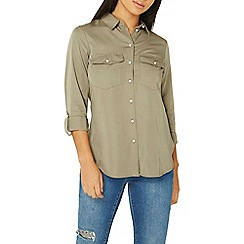 Dorothy Perkins - Khaki soft touch casual shirt