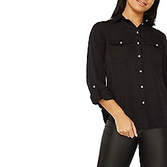 Dorothy Perkins - Black soft touch casual shirt