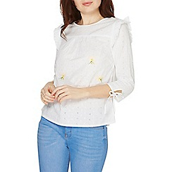 Dorothy Perkins - Ivory embroidered broderie top