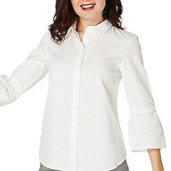 Dorothy Perkins - Ivory poplin tie sleeve shirt